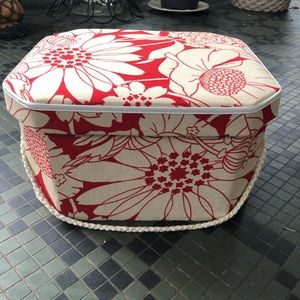 Vintage Fabric Covered Sewing Craft Box